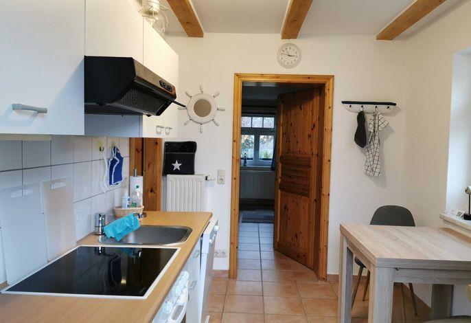 Eingang in die Ferienwohnung und Küche