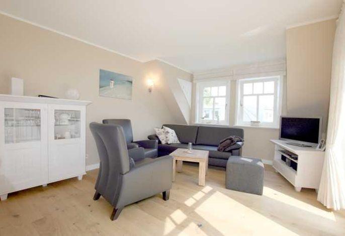 Sitzecke im Wohnzimmer aus Leder