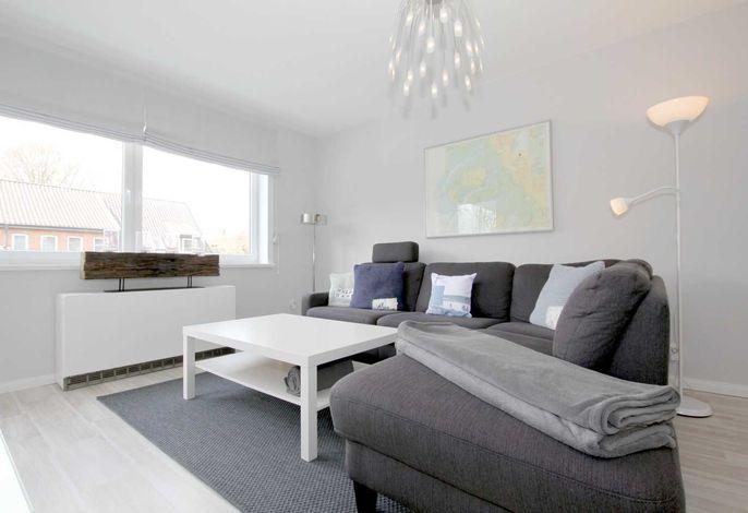 Große, gemütliche Sitzecke im Wohnzimmer