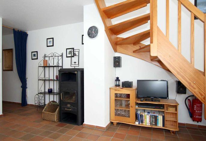 Wohnzimmer mit Dänischem Eisenofen