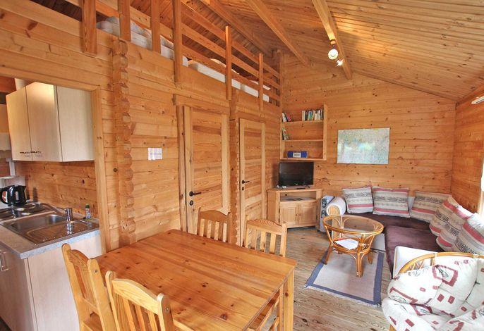 Blick in den offenen Wohnbereich