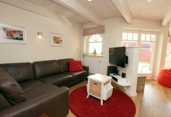 Sitzecke mit Leder Couch