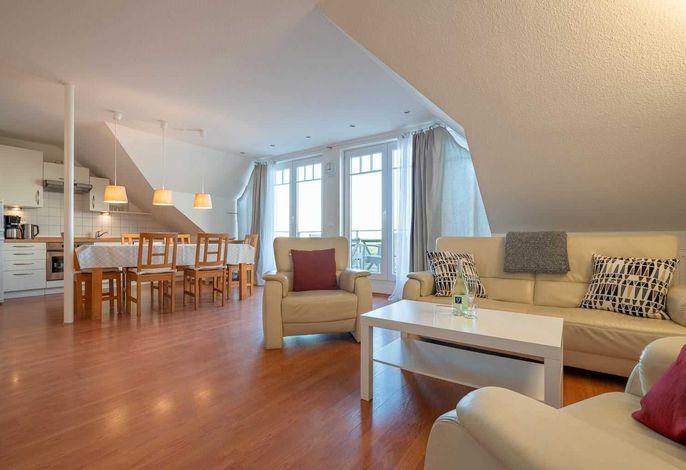 Haus Zum Böhler Strand 10, Wohnung 11 Barghahn (ID 365) - Wohnzimmer