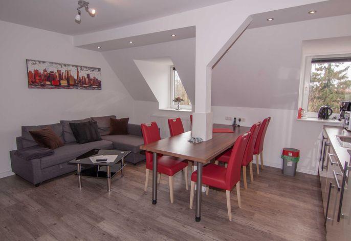 offener Wohn-Küchenbereich