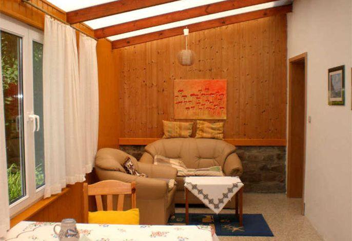 Wohnzimmer im Wintergarten